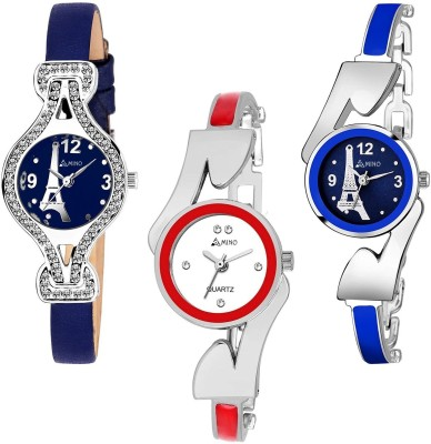 LADIES_1056 Desiner Pack Of 3 Analog Watch For Girls And Women Watch  - For Women