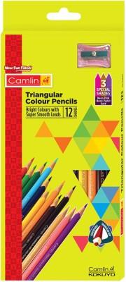 Camlin Triangular Colour Pencils 12 Shades