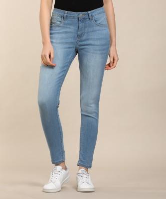 Flying Machine Skinny Women Light Blue Jeans
