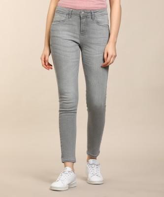 Flying Machine Skinny Women Grey Jeans