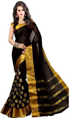 ArrayBlue Woven Fashion Cotton Silk Saree