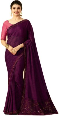 Bombey Velvat Fab Embroidered Daily Wear Georgette, Chiffon Saree