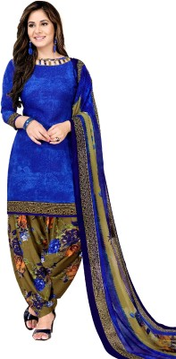 Fashion Valley Crepe Printed Salwar Suit Material