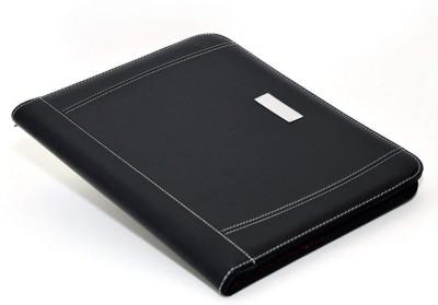 Divinext Leather portfolio Padfolio Binder – Professional Genuine Leather Padfolio - Zippered Executive Portfolio Organizer, A4 Replaceable Notepad, Calculator, iPad/Tablet Sleeve & Card Holder