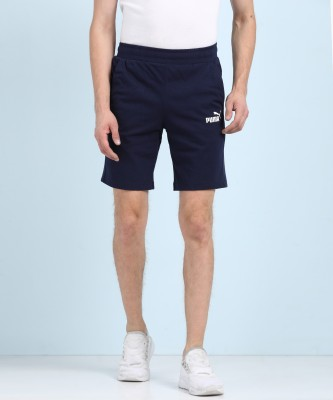 Puma Solid Men's Dark Blue Regular Shorts