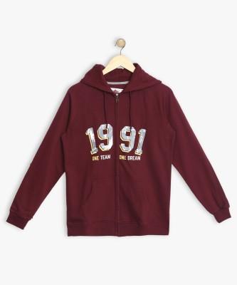 BARE KIDS Full Sleeve Solid Boys Sweatshirt
