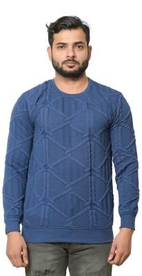 Shaun Full Sleeve Self Design Men Sweatshirt