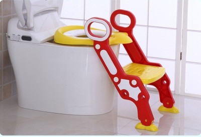 GOCART Potty Training Seat, with Step Stool Ladder for Kids and Baby, Non-Slip Kids Toilet Training Seat, Toddlers Potty Ring Comfort Soft Cushion for Round and Oval Toilets Potty Seat