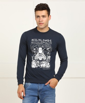 Peter England University Full Sleeve Solid Men Sweatshirt