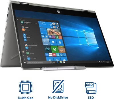 HP Pavilion x360 Core i3 8th Gen - (4 GB/1 TB HDD/8 GB SSD/Windows 10 Home/2 GB Graphics) 14-cd0050TX 2 in 1 Laptop