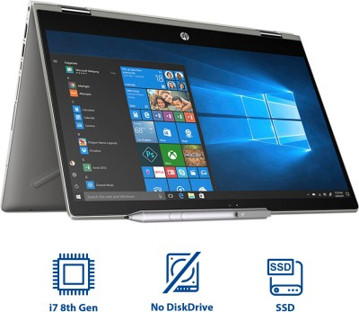 HP Pavilion x360 Core i7 8th Gen - (8 GB + 16 GB Optane/1 TB HDD/Windows 10 Home/4 GB Graphics) 14-cd0055TX 2 in 1 Laptop