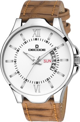 Decode White Brown Day and Date DC5021 Vivo Collection Watch  - For Men