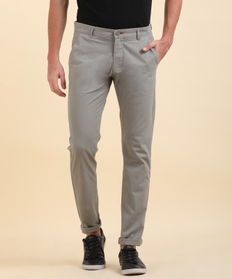 Flying Machine Slim Fit Men Grey Trousers