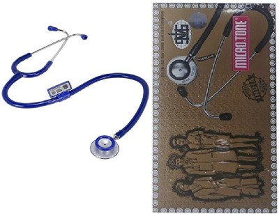 MSI Original Microtone Blue Stethoscope with Pink and Grey tube with Ear Piece and Diaphragm Acoustic Stethoscope
