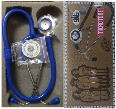 MSI Original Microtone Blue Stethoscope with Black and Green tube with Ear Piece and Diaphragm Acoustic Stethoscope
