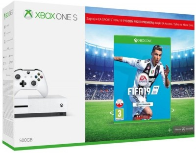 Microsoft Xbox One S Console 500GB with FIFA 19