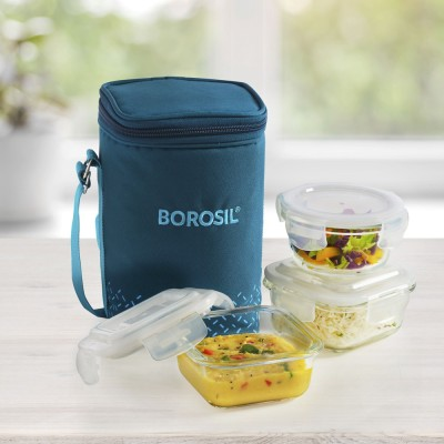 Borosil IC22COMTF03 3 Containers Lunch Box