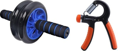 Lord Three wheeler AB Roller or Adjustable Hand Grip Gym & Fitness Kit