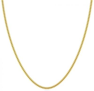Candere by Kalyan Jewellers BIS Hallmark 18 inch Curb Chain Yellow Gold Precious Chain