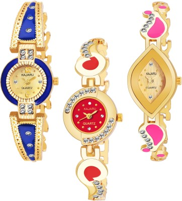 KAJARU BANGLE_1094 NEW ARRIVAL PACK OF 3 WATCH FOR GIRLS Watch  - For Women