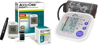 Accu-Chek Instant Meter with Dr. Morepen Bp 02 Monitor Health Care Appliance Combo