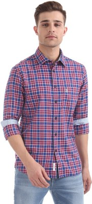 U.S. Polo Assn Men's Checkered Casual Red Shirt