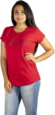 Kohinshitsu Printed Women Round Neck Red T-Shirt