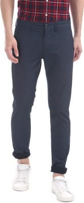 Arrow Sport Slim Fit Men Blue Trousers