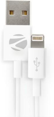 Zebronics ZEB-ULC200 USB 3.0 to Lightning Data / Sync / Extra long Cable - White Reversible Micro USB