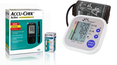 Accu-Chek Accu Chek Active Glucometer with Dr. Morepen BP02 Health Care Appliance Combo