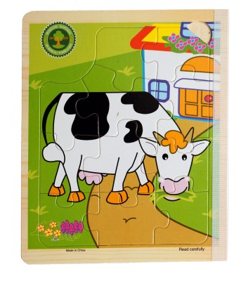 Hnt Kids six in 1 jigsaw wooden book puzzle (6-in-1 & 67 Pieces) | AnimalThemed | Early Educational Toys for Toddlers Kids 2 Years +