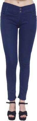 Ziva Fashion Super Skinny Women Dark Blue Jeans
