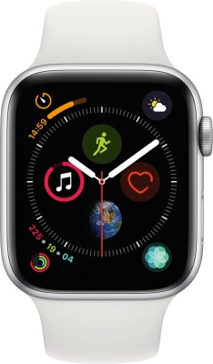 Apple Watch Series 4 GPS + Cellular 44 mm Silver Aluminium Case with White Sport Band