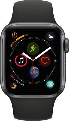 Apple Watch Series 4 GPS, 40 mm Space Grey Aluminium Case with Black Sport Band
