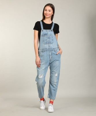 Pepe Jeans Women's Blue Dungaree