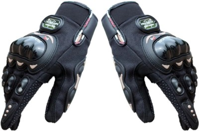 Probiker Racing Equipment Motorcycle Driving Gloves (Free Size, Black)