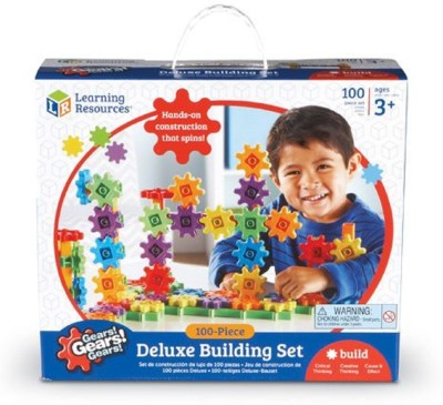 Learning Resources Gears! Gears! Gears! Deluxe Building Set (Set of 100)