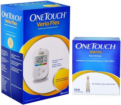 One Touch Verio Glucometer With 100 Test Strips Health Care Appliance Combo