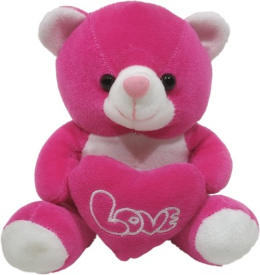 Dimpy Stuff Bear W/Heart Rani  - 17 cm