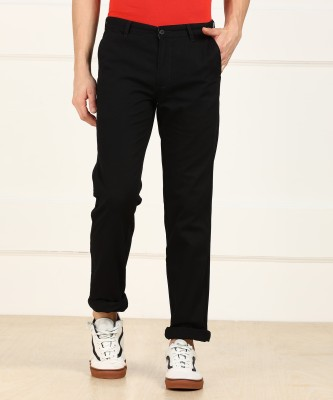 Metronaut Regular Fit Men's Cotton Black Trousers