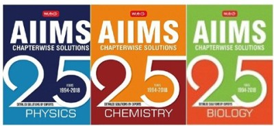 MTG 25 Years AIIMS Chapterwise Solutions PCB COMBO 3 BOOK SET