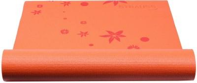 Strauss Floral Orange 6 mm Yoga Mat