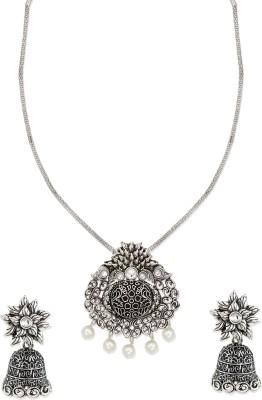 Zaveri Pearls Zinc Jewel Set