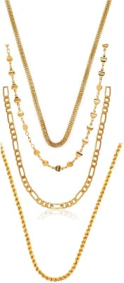 Charms Combo Of Stunning Live Gold-plated Plated Alloy Chain