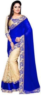 SNH Export Self Design, Embroidered Bollywood Poly Georgette Saree