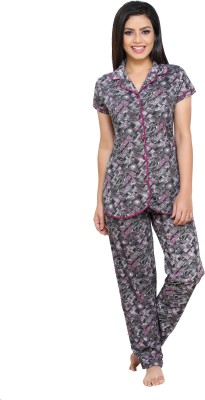 Boring Dress Women Printed Multicolor Night Suit Set