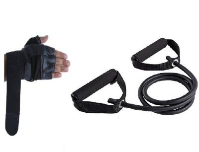 Leosportz Toning tube with Gym Gloves Gym & Fitness Kit
