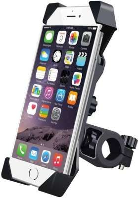 AlexVyan Black Universal Bike Motorcycle Cycle Mount Holder for Phone Mobile Bicycle Handlebar Mobile Phone Holder Mobile Holder