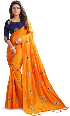 Angel Enterprise Embroidered Bollywood Poly Silk Saree