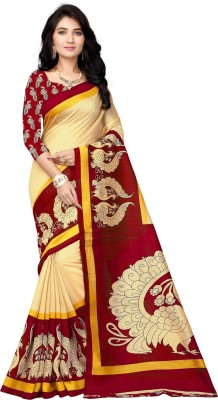 Vimalnath Synthetics Graphic Print Fashion Kota Silk Saree